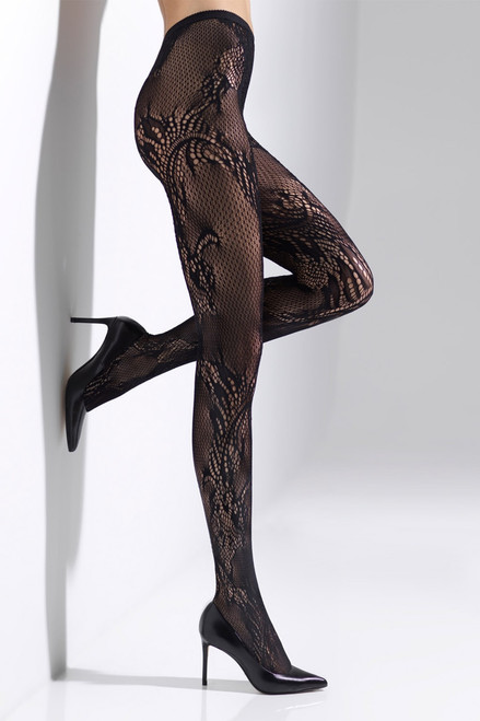 Buy Natori Feathers Lace Net Tights from
