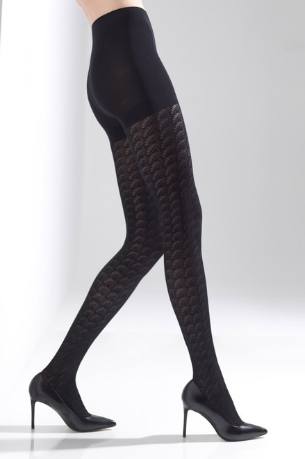 Natori Deco Fan Tights at The Natori Company