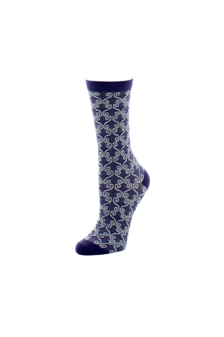 Natori Etched Geo Crew Socks at The Natori Company