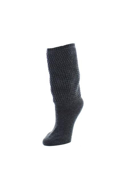 Natori Tight Knit Honeycomb Extended Crew Socks at The Natori Company