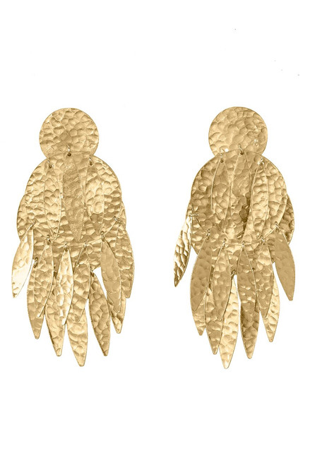 Josie Natori Gold Brass Dangling Earrings at The Natori Company