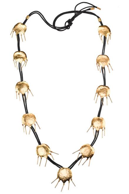 Josie Natori Gold Brass Tulip Necklace at The Natori Company