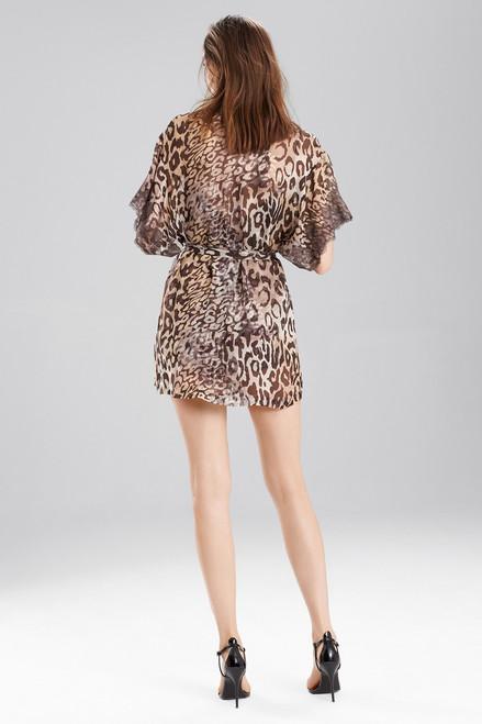 Josie Natori Shadow Leopard Wrap at The Natori Company