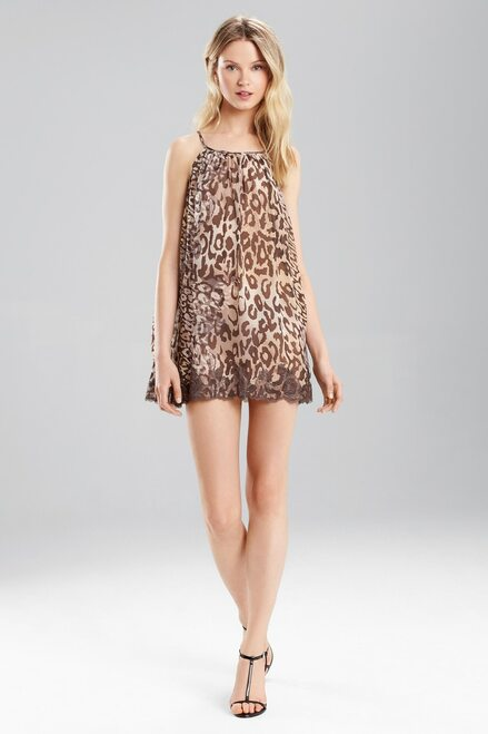 Josie Natori Shadow Leopard Chemise at The Natori Company
