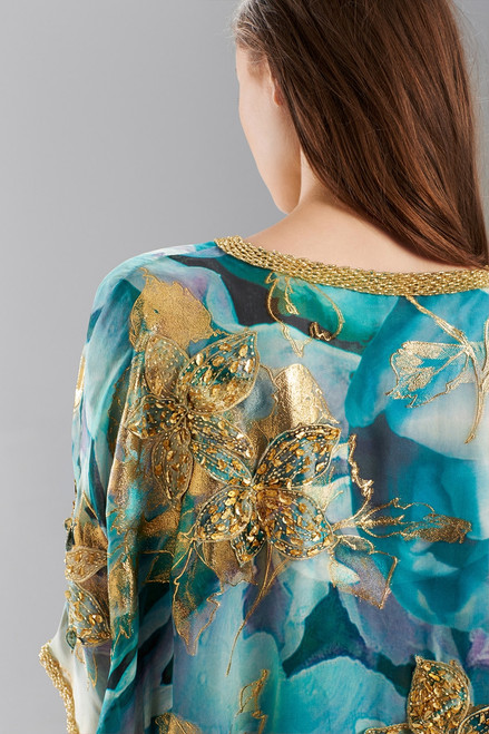 Josie Natori Couture Floral Dream Caftan - Style B50140 at The Natori Company