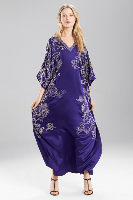 Josie Natori Couture Vintage Floral Caftan - Style B50041 at The Natori Company