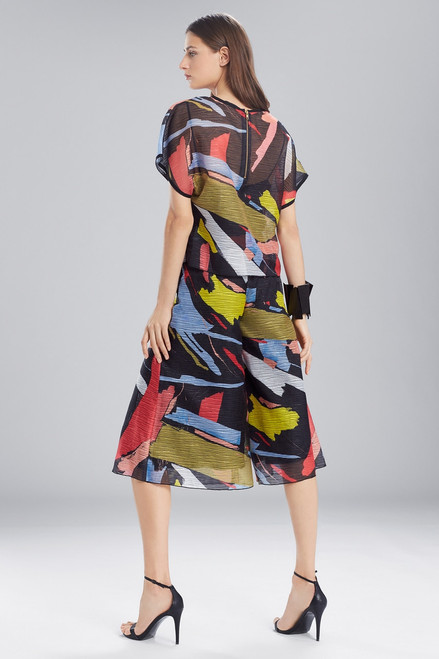 Josie Natori Printed Gauze Short Sleeve Top at The Natori Company