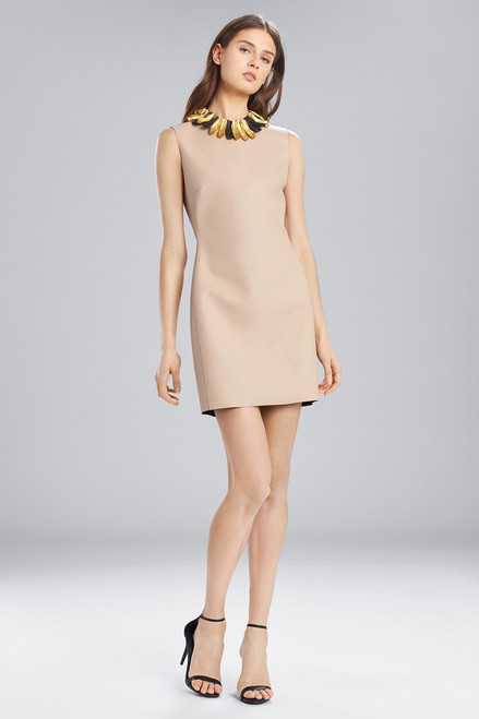 Josie Natori Faux Leather Sleeveless Dress at The Natori Company