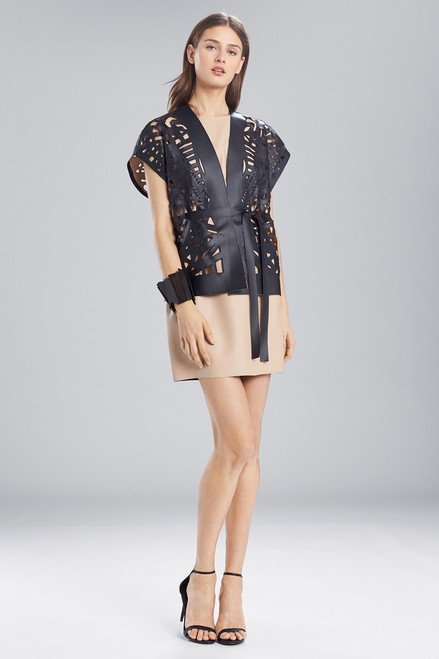Buy Josie Natori Faux Leather Short Cut-Out Vest from
