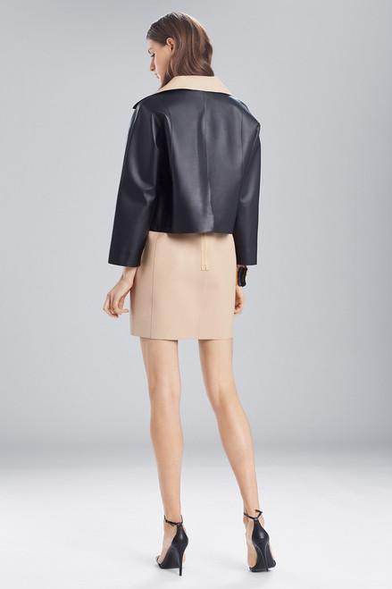 Josie Natori Faux Leather Short Topper at The Natori Company