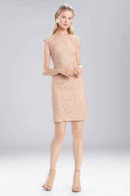 Josie Natori Lacquer Lace Sleeveless Dress at The Natori Company