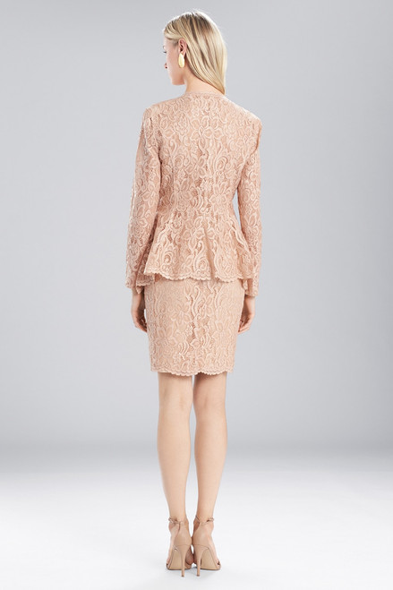 Josie Natori Lacquer Lace Zip Top at The Natori Company