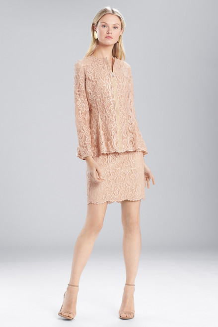 Buy Josie Natori Lacquer Lace Zip Top from