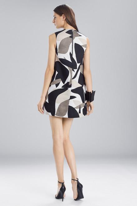 Josie Natori Abstract Printed Jacquard Sleeveless Dress at The Natori Company
