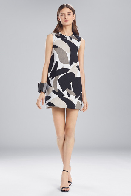 Buy Josie Natori Abstract Printed Jacquard Sleeveless Dress from