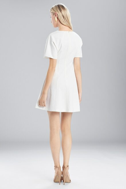 Josie Natori Textured Cotton Short Sleeve Dress at The Natori Company