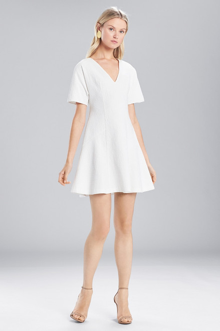 Buy Josie Natori Textured Cotton Short Sleeve Dress from