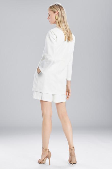 Josie Natori Textured Cotton Long Topper at The Natori Company