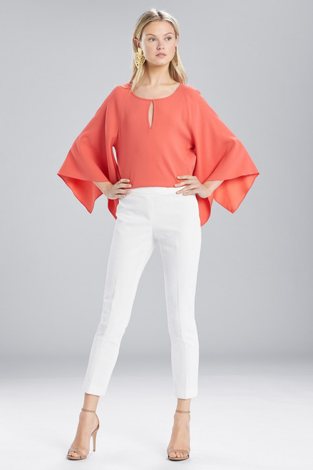 Buy Josie Natori Textured Cotton Ankle Pants from