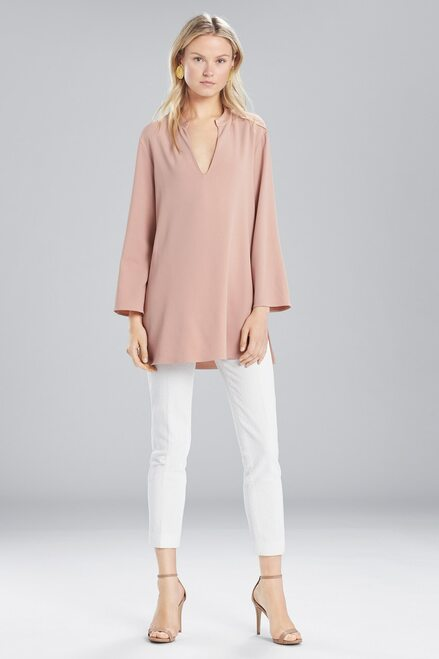 Josie Natori Satin Back Crepe Tunic at The Natori Company