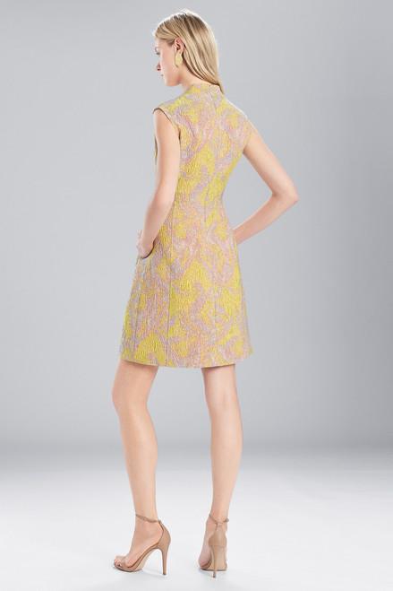 Josie Natori Evening Jacquard V-Neck Dress at The Natori Company