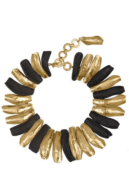 Buy Josie Natori 24K Goldplated Brass With Darkwood Necklace from