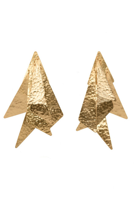 Buy Josie Natori Goldplated Brass Geometric Earrings from