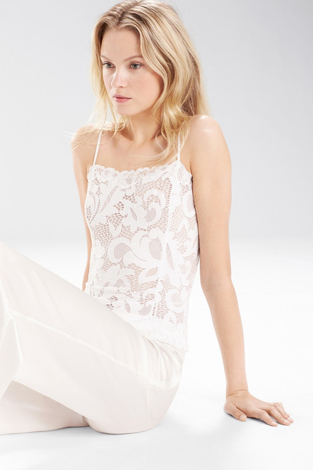 Josie Natori Underpinnings Allover Stretch Lace Camisole at The Natori Company