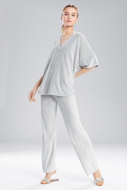 N Natori Terry Lounge V-Neck Top at The Natori Company