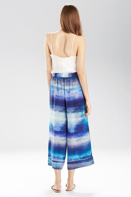 Josie Natori Blue Lagoon Pants at The Natori Company
