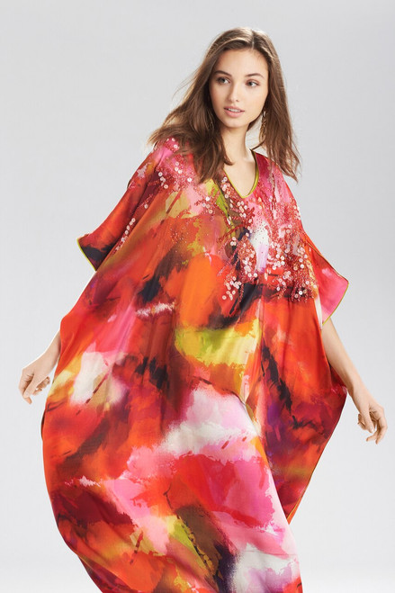 Josie Natori Sunset Square Caftan at The Natori Company