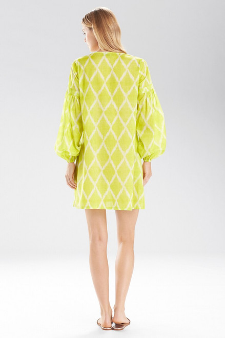 Natori Ikat Peasant Tunic Shirt at The Natori Company