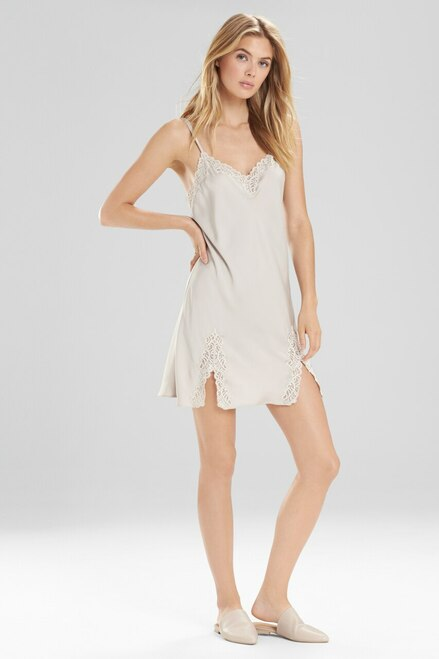 Natori Feathers Satin Lace Chemise at The Natori Company