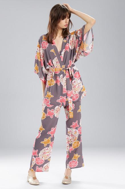 Buy Josie Enchanted Garden Happi Coat Charcoal With Hibiscus from