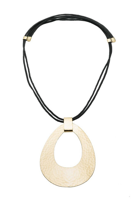 Natori Brushed Brass Necklace at The Natori Company