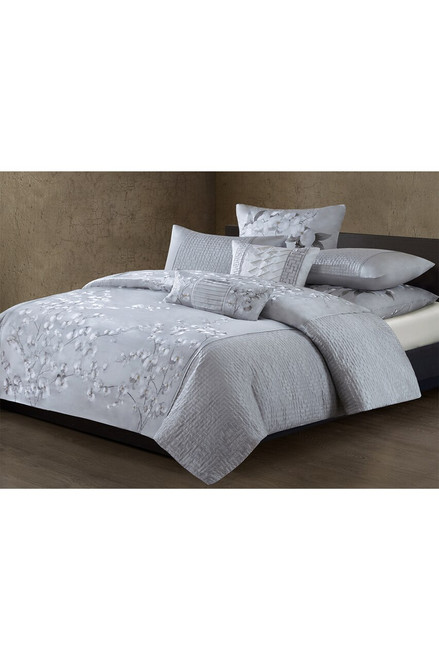 Natori White Orchid Duvet Sham at The Natori Company