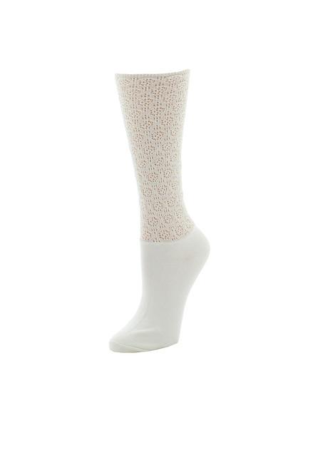 Natori Mesh Textured Crew Socks at The Natori Company