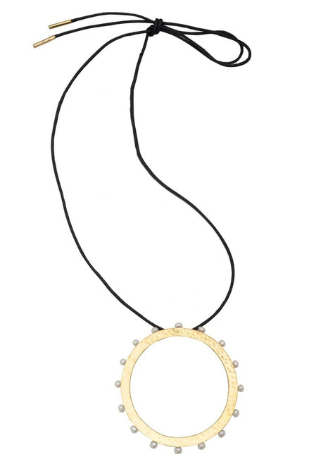 Buy Josie Natori Brass & Mother of Pearl Necklace from