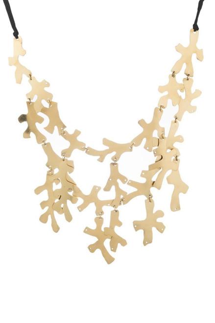 Buy Josie Natori Hammered Brass Necklace from