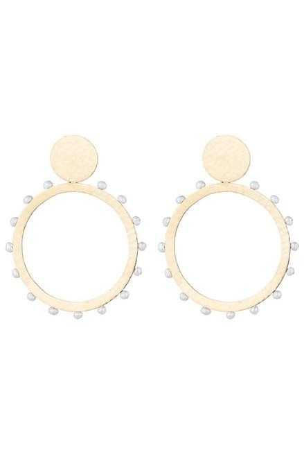 Buy Josie Natori Brass & Mother of Pearl Earrings from