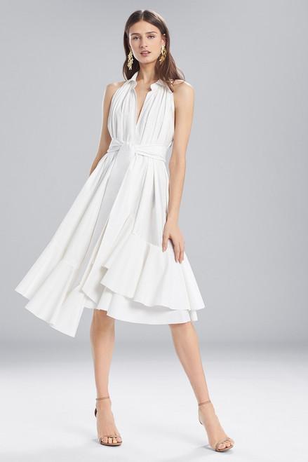Josie Natori Cotton Shirting Halter Dress at The Natori Company