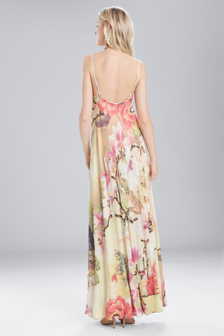 Josie Natori Printed Silky Soft Slip Dress at The Natori Company