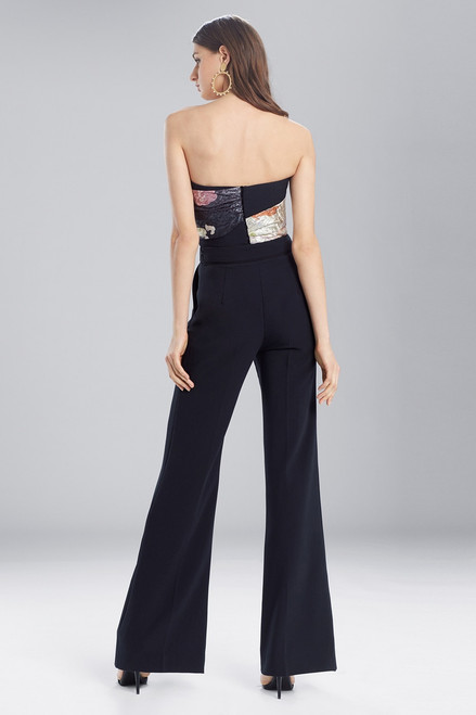 Josie Natori Scenery Metallic Jacquard Bustier Top at The Natori Company