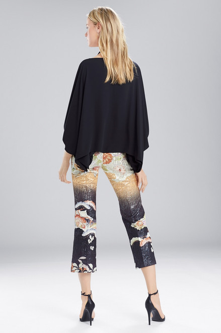 Josie Natori Solid Silky Soft Poet Sleeve Top at The Natori Company
