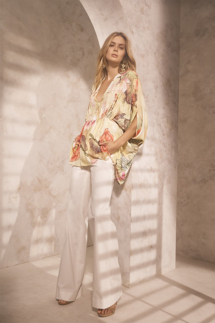 Josie Natori Printed Silky Soft Caftan Top at The Natori Company