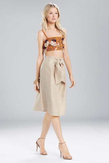 Josie Natori Cotton Shirting Embroidered Bralette at The Natori Company