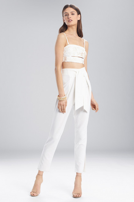 Josie Natori Core Crepe Front Tie Pants at The Natori Company