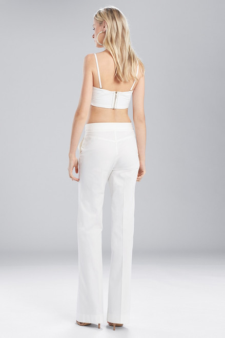 Josie Natori Bottom Weight Cotton High Waisted Pants at The Natori Company