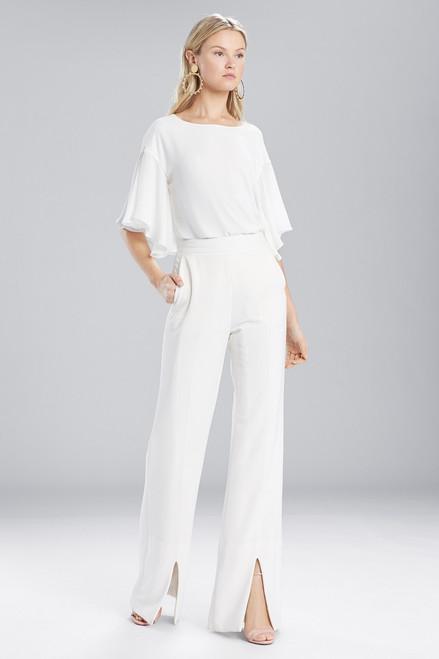 Buy Josie Natori Core Crepe Front Slit Pants from