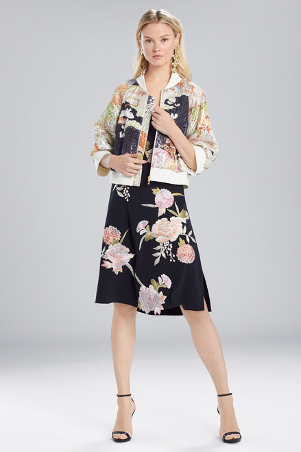 Buy Josie Natori Scenery Metallic Jacquard Bomber Jacket from
